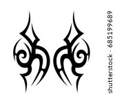 tribal tattoo art designs.... | Shutterstock .eps vector #685199689