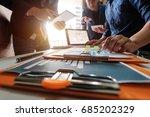 business team meeting. photo... | Shutterstock . vector #685202329