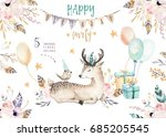 cute baby deer nursery animal... | Shutterstock . vector #685205545