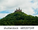 castle hohenzollern on the... | Shutterstock . vector #685207249