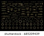 gold vintage decor elements and ... | Shutterstock .eps vector #685209439