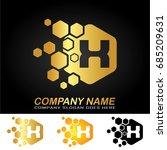 hexagon letter x logo design... | Shutterstock .eps vector #685209631