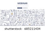doodle vector illustration of... | Shutterstock .eps vector #685211434