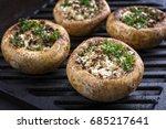 traditional italian mushroom... | Shutterstock . vector #685217641