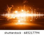 abstract futuristic background | Shutterstock . vector #685217794