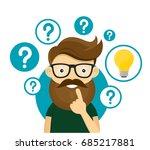 hipster businessman having... | Shutterstock .eps vector #685217881