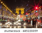 arch of triumph and champs... | Shutterstock . vector #685220359