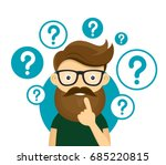 young hipster business man... | Shutterstock .eps vector #685220815