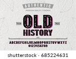 font.alphabet.script.typeface... | Shutterstock .eps vector #685224631