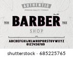 font.alphabet.script.typeface... | Shutterstock .eps vector #685225765