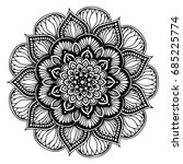 mandalas for coloring book.... | Shutterstock .eps vector #685225774