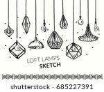 hand drawn vector set of... | Shutterstock .eps vector #685227391