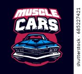 muscle car. logo. vector... | Shutterstock .eps vector #685227421