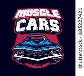 muscle car. logo. vector... | Shutterstock .eps vector #685227421