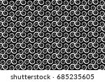 vector pattern with swirling... | Shutterstock .eps vector #685235605