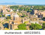 aerial view of ruins in rome ... | Shutterstock . vector #685235851
