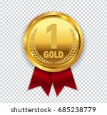 champion art golden medal with... | Shutterstock .eps vector #685238779