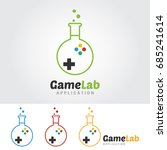 game lab logo template. lab... | Shutterstock .eps vector #685241614