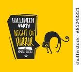 halloween undomestic cat vector ... | Shutterstock .eps vector #685243321