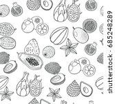 seamless hand drawn pattern... | Shutterstock .eps vector #685248289