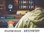 back of asian sound engineer... | Shutterstock . vector #685248589
