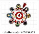 concepts for business analysis... | Shutterstock .eps vector #685257559