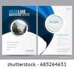 abstract vector modern flyers... | Shutterstock .eps vector #685264651
