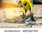 male worker with safety... | Shutterstock . vector #685266784