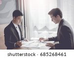 asia business people meeting... | Shutterstock . vector #685268461