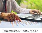 businessman working with... | Shutterstock . vector #685271557
