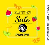 summer sale banners template on ... | Shutterstock .eps vector #685274221