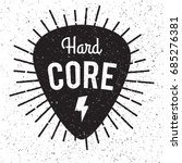 rock fest hardcore badge label. ... | Shutterstock .eps vector #685276381