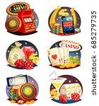 casino decorative compositions... | Shutterstock .eps vector #685279735