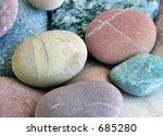 smooth colored stones - stock photo