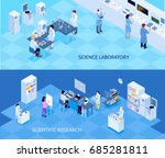 science laboratory horizontal... | Shutterstock .eps vector #685281811