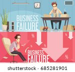 business failure 2 retro... | Shutterstock .eps vector #685281901