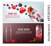 detox beverages horizontal... | Shutterstock .eps vector #685281961