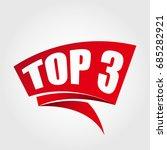 top 3 labels banners | Shutterstock .eps vector #685282921