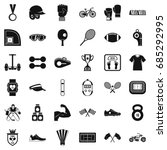 fitness life icons set  simple... | Shutterstock .eps vector #685292995