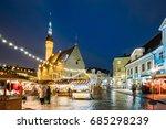 tallinn  estonia. traditional... | Shutterstock . vector #685298239