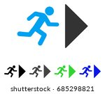 exit direction flat vector... | Shutterstock .eps vector #685298821