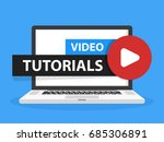 online video tutorials... | Shutterstock .eps vector #685306891
