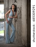 portrait of beautiful sexy...   Shutterstock . vector #685309291