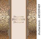 antique baroque luxury wedding...   Shutterstock .eps vector #685309489
