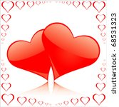 a valentine's day card with... | Shutterstock .eps vector #68531323