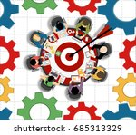 concepts for business analysis... | Shutterstock .eps vector #685313329
