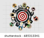 concepts for business analysis... | Shutterstock .eps vector #685313341