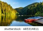 majestic mountain lake lacul...   Shutterstock . vector #685314811