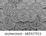 american samoa  state and coins ...   Shutterstock . vector #685317511