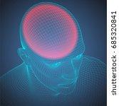 headache wire frame human head. ... | Shutterstock .eps vector #685320841